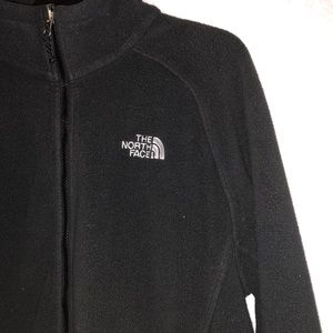 NorthFace Men's Black Fleece Jacket Zip Pockets L